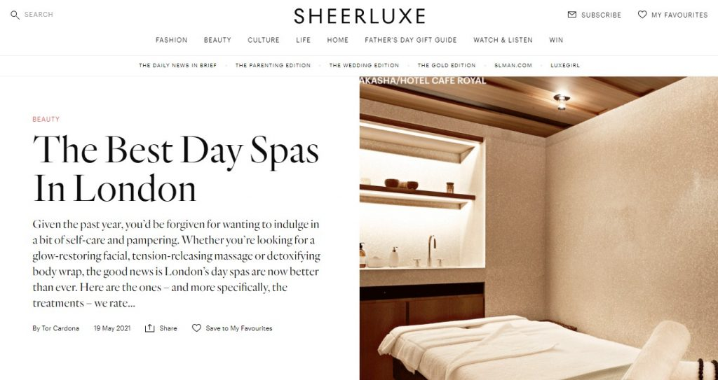 Sheerluxe - The Best Day Spas In London